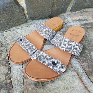 Dolce Vita Two Strap Slip On Wedge Sandals 9.5